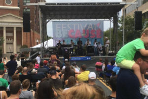 Festival BeCause stage at Clarendon Day