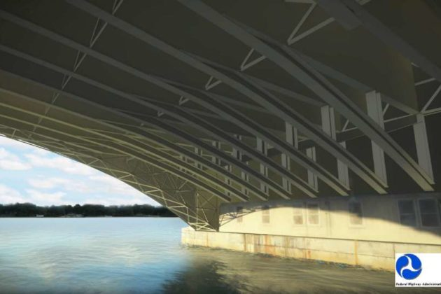 Memorial Bridge design Alternative 1B underside view