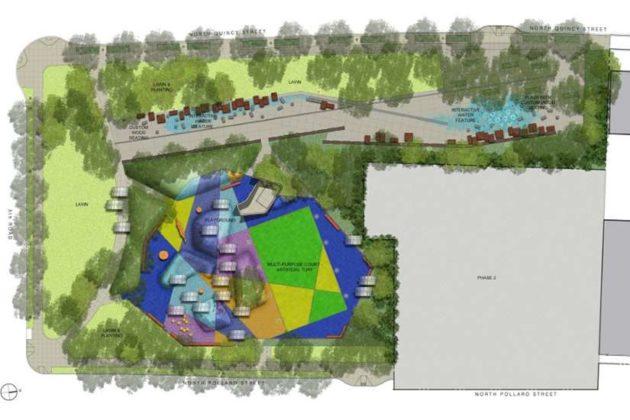 Mosaic Park design via Arlington County