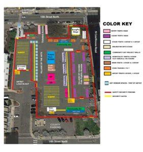 Planned festival map via Festival BeCause