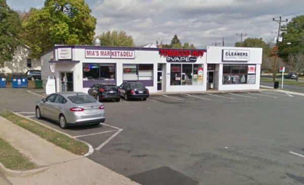 Shops on the 1600 block of S. Glebe Road (photo via Google Maps)