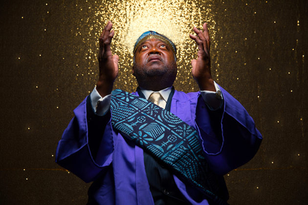 "Newman in ""The Gospel at Colonus"" (Photo by DJ Corey Photography)"