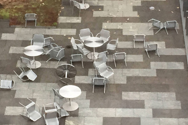 Patio furniture carnage after a windstorm (Flickr pool photo by Lisa Novak)