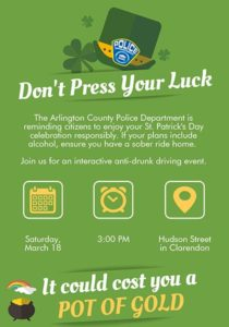 Police DUI event St Patricks Day
