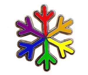 """LGBT rights """"snowflake"""" pin"""