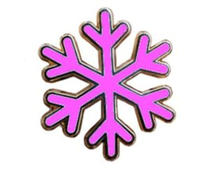 "Women's rights ""snowflake"" pin"