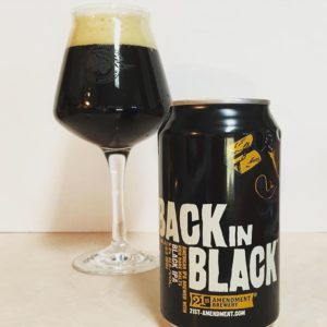 WWBG Back in Black beer