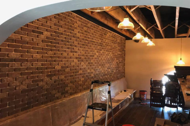 The inside brickwork before completion at BrickHaus (photo via Facebook)