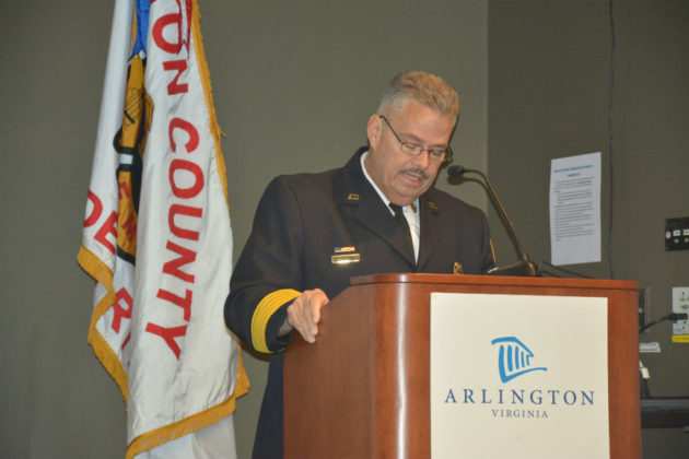 Chief Bonzano speaks at ACFD awards ceremony