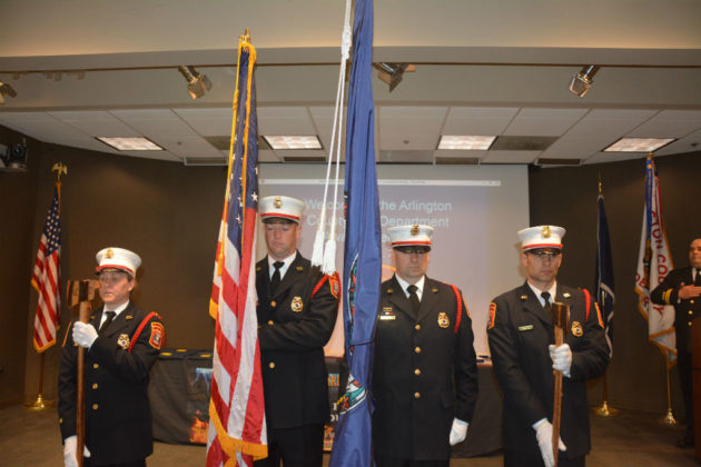 Colorguard at ACFD awards ceremony