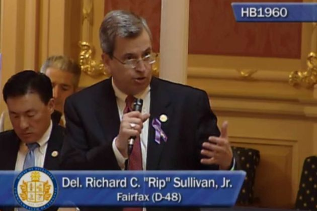 Del. Rip Sullivan (D-48) during debate on the towing bill amendment