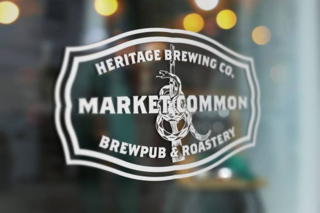 Heritage Brewing Company's entrance at Market Common (photo via Facebook)