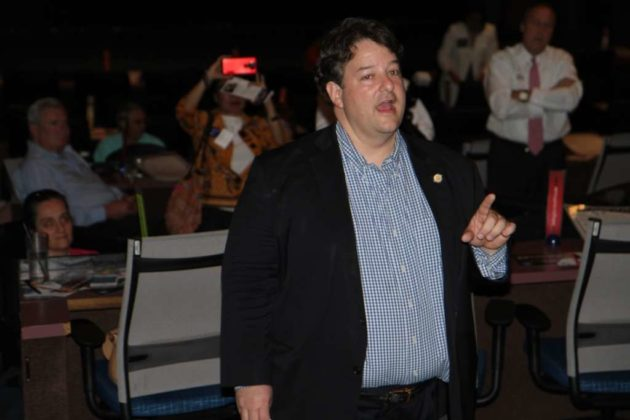 Del. Alfonso Lopez (D-49), the host of the straw poll