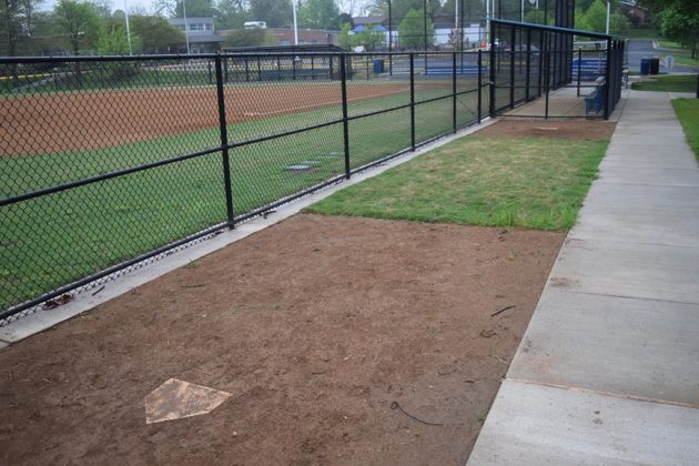 The new bullpen at Tuckahoe Park