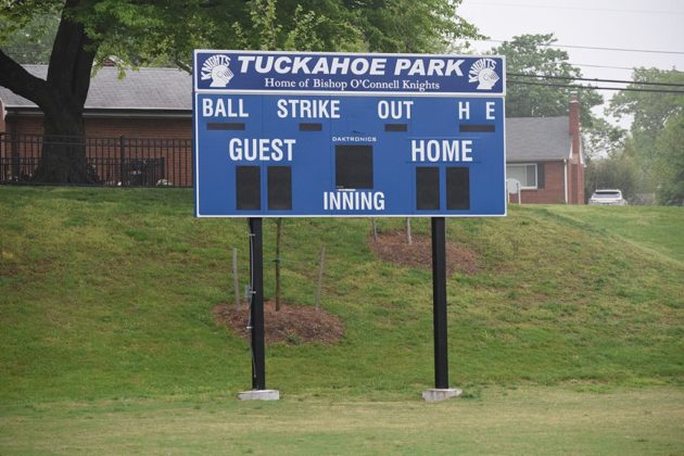 The new scoreboard at Tuckahoe Park