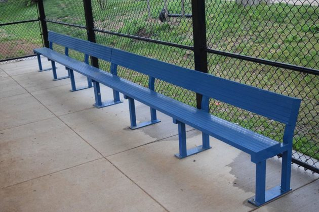 A second team bench