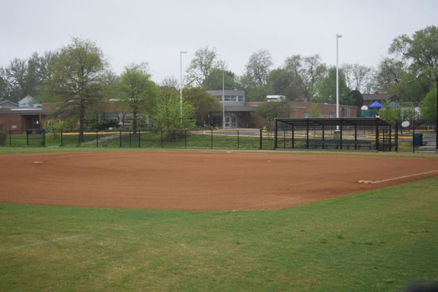 Field One at Tuckahoe Park with re-done dirt and grass