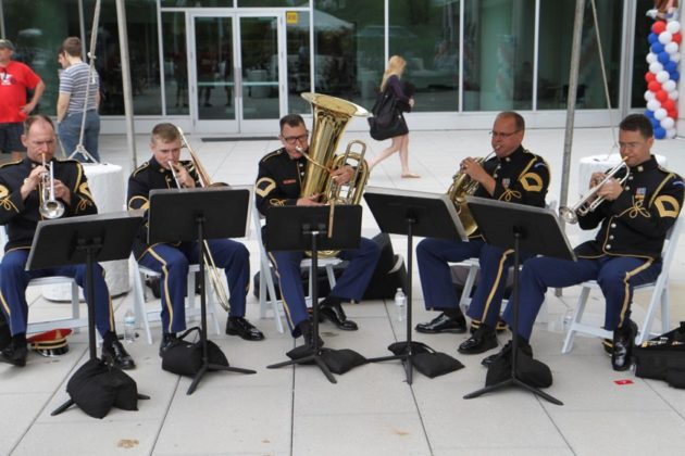 The U.S. Army Brass Quintet provided music during the event
