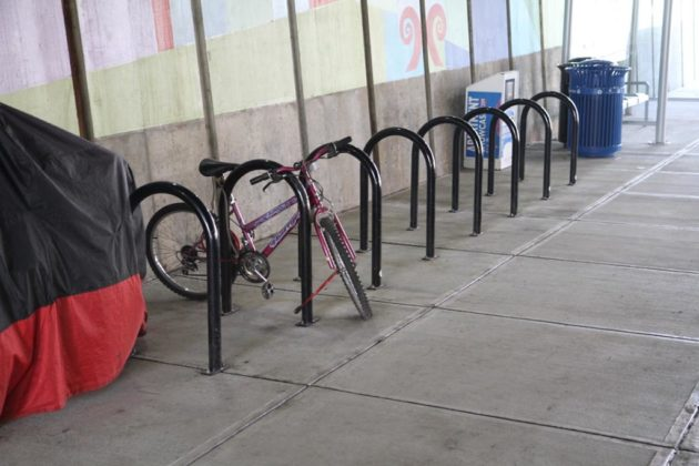 New bike racks installed at the Crystal City Multimodal Center