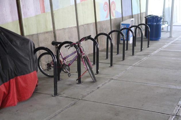 New bike racks installed at the Crystal City Multimodal Center