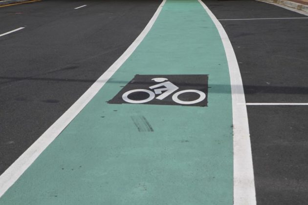 The center includes dedicated bike lanes
