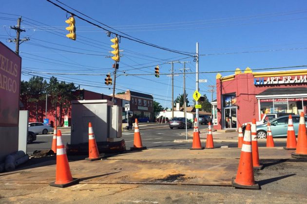 Work has begun to put utilities underground at the intersection
