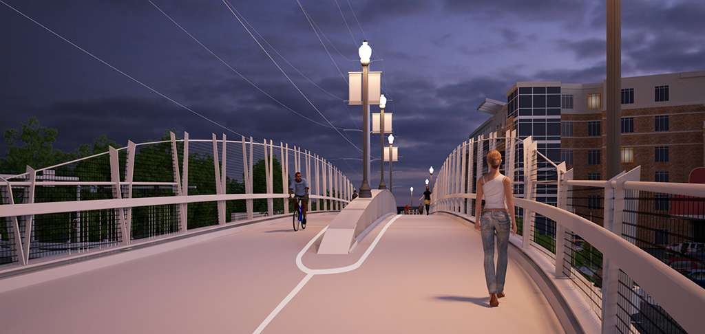 Lighting And Design Elements Of Pedestrian Bridge Via Vdot