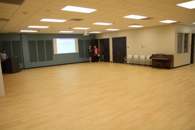 The revamped main room at the Aurora Hills Community Center