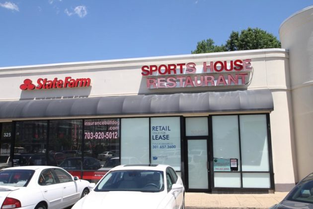 The restaurant at 3249 Columbia Pike is between a State Farm and Mattress Firm