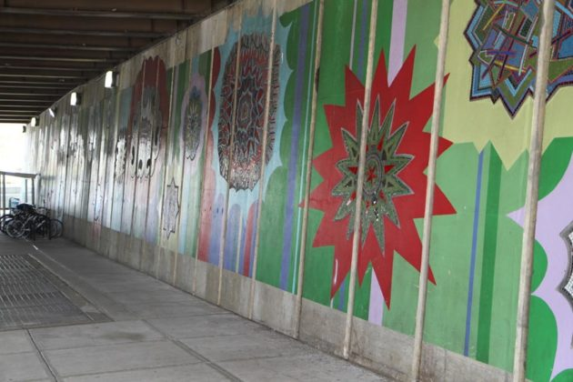 Other improvements include new art in the underpass
