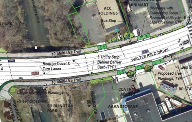 S. Arlington Mill Drive will get new left and right turn lanes