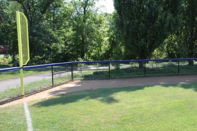 A baseball field at Bluemont Park has reopened after renovations