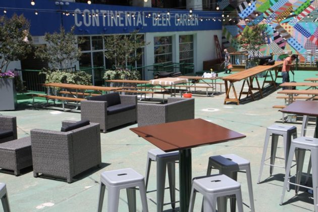 Continental Beer Garden will open tomorrow in Rosslyn