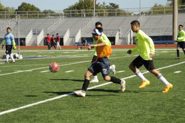 The tournament helps promote students not joining a gang, but instead playing soccer