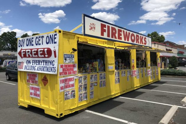 Fireworks stand along Columbia Pike & Fireworks Stands Now Open in Arlington | ARLnow.com