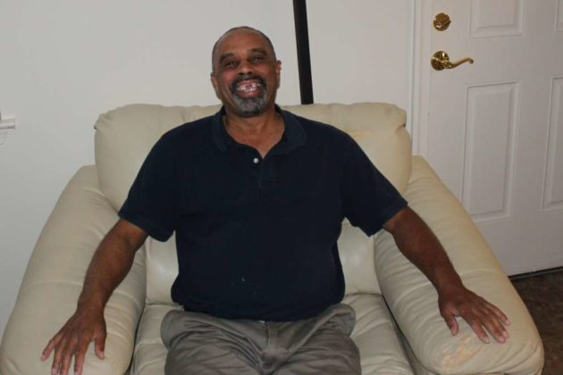 Another success story from the center; this man moved into affordable housing.