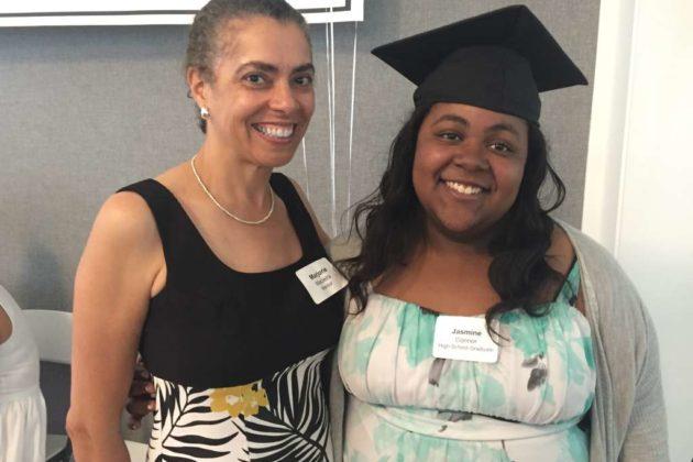 Mentor Marjorie Macieria with her student Jasmine Connor