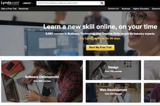Lynda has thousands of courses to choose from