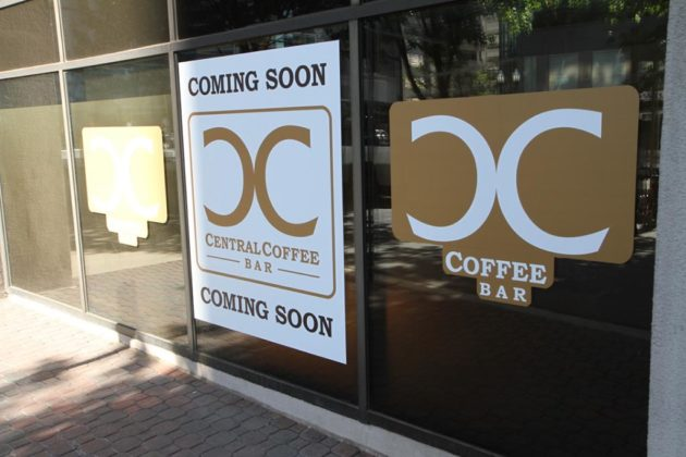 There is no word yet on an opening date for the coffee bar