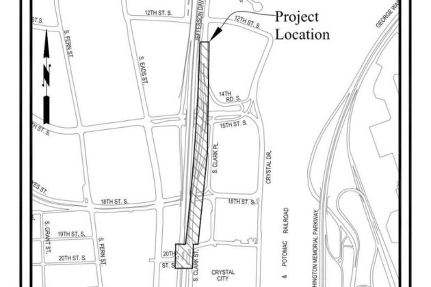 S. Clark Street project map (via Arlington County)