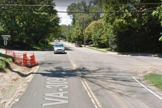 Intersection of Little Falls Road and Old Dominion Drive (photo via Google Maps)