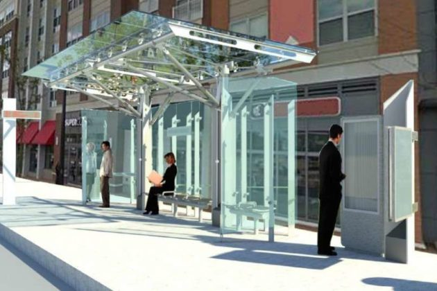 Planned bus stops for the Premium Transit Network