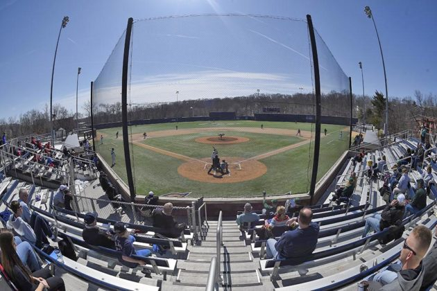 From behind home plate at Tucker Field (Photo by Nick Wass)