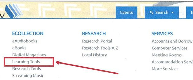 The portal to Lynda can be found under the Explore tab on the Arlington County Library page.