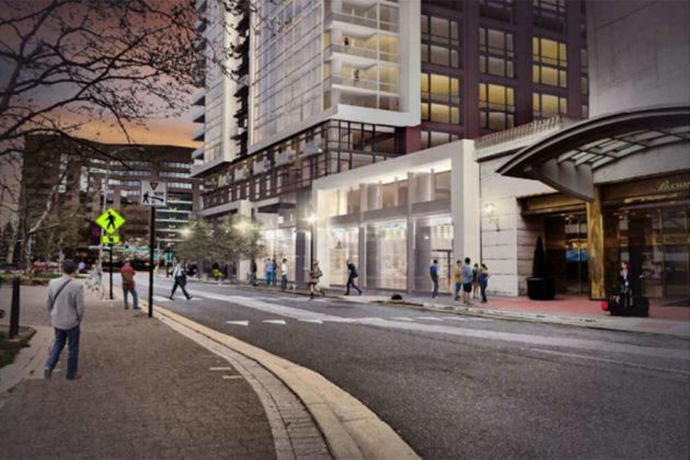 The plans include making 23rd Street S. more pedestrian-friendly (image via Lowe Enterprises)