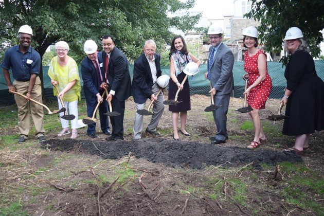 Officials at the ground-breaking ceremony for Gilliam Place