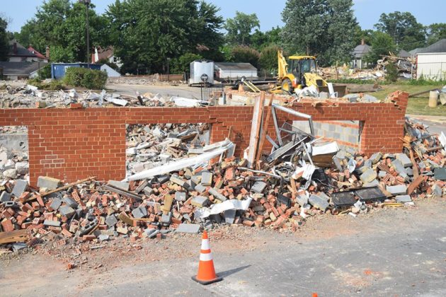 The Cherry Hill apartments have been demolished
