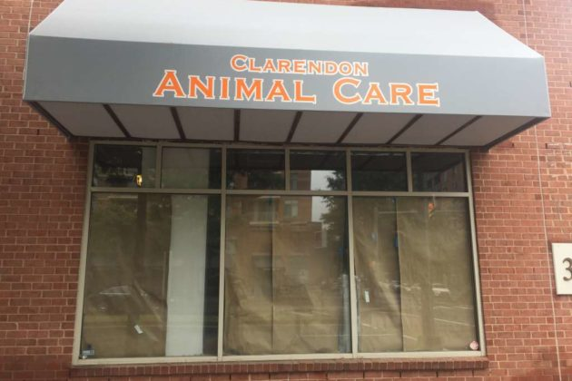 The part of Clarendon Animal Care which is under construction