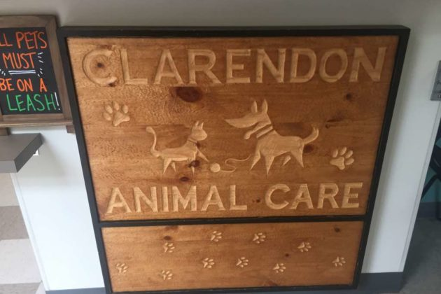 The front desk at Clarendon Animal Care