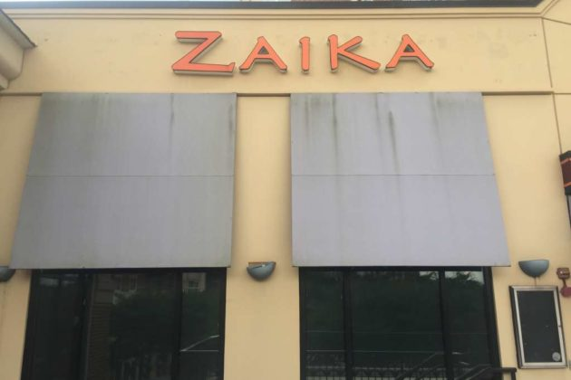 The awnings at Zaika.